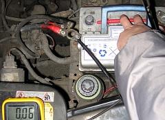 Определение силы тока потребления электросети автомобиля тестером