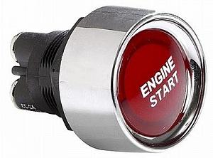 Красная кнопка старта для автомобиля без фиксации