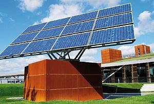 Солнечные батареи движущиеся за солнцем, для системы накопления энергии и зарядки электромобилей