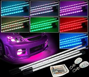 Светодиодные ленты в трубках заводского изготовления для подсветки кузова автомобиля и салона