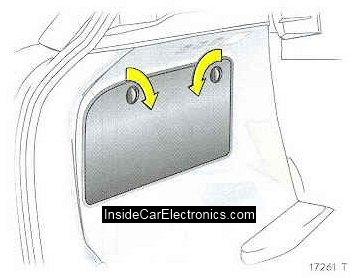 Элементы крепления (зажимы) крышки блока предохранителей в багажнике опель астра h хэтчбек