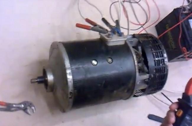 Двигатель постоянного тока мощностью 12 КВт (17 л.с) для установки в электромобиль