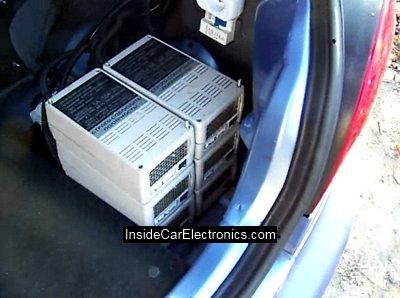 6 импульсных зарядных устройств для самодельного электромобиля. Каждое заряжает свой аккумулятор отдельно