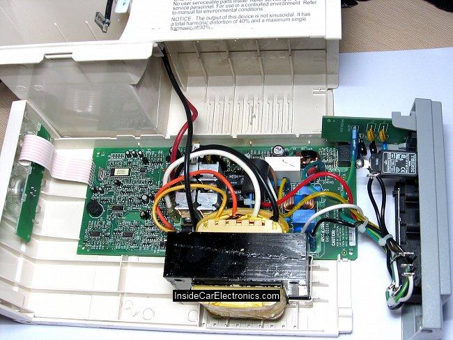 ...ИБП) - схема преобразователя, трансформатор, отсек батареи. источник...