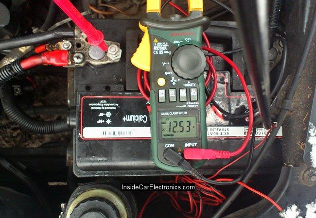 Напряжение на аккумуляторе перед пуском холодного двигателя