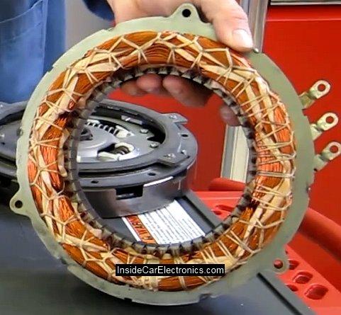 Электрический статор мотор/генератора Тойота Приус с медными трехфазными силовыми обмотками